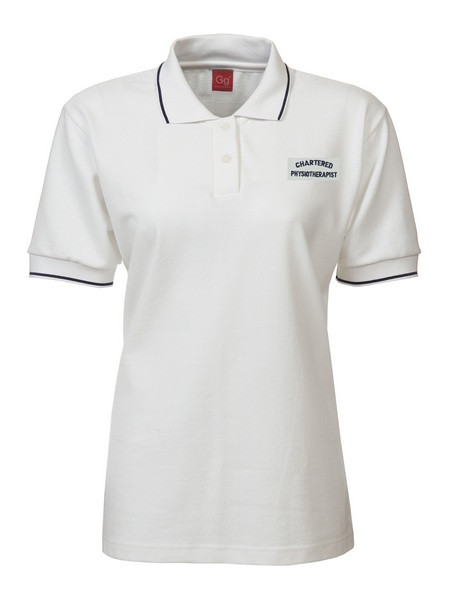 professional leisurewear  ps818  ladies polo shirt  embroidered with chartered physiotherapist