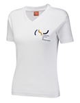 CSP011-Ladies V-neck tshirt